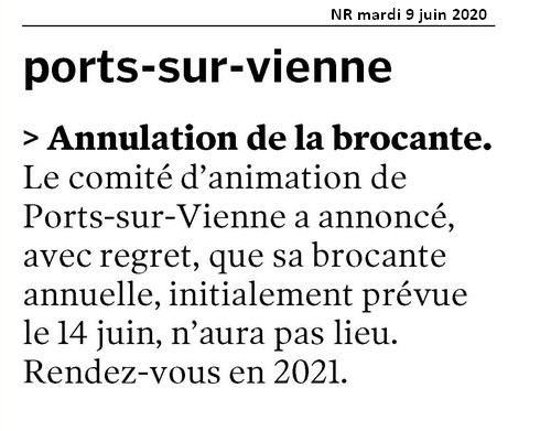 20200609 NR 37 extraits PORTS annulation brocante 500